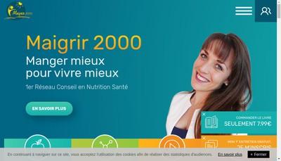 Site internet de Maigrir 2000