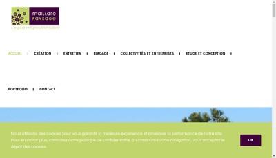 Site internet de SARL Maillard Paysage