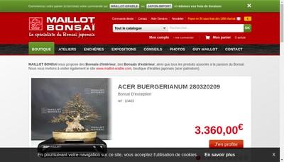 Site internet de Maillot Bonsai