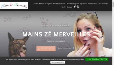 Site internet de Mains Ze Merveilles