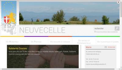 Site internet de SARL Chateau de Neuvecelle