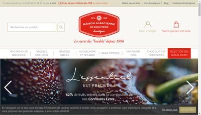 Site internet de Maison Alsacienne de Biscuiterie