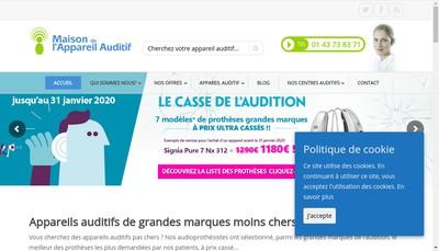 Site internet de Maison de l'Audition