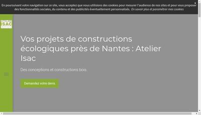 Site internet de Menuiserie de l'Isac