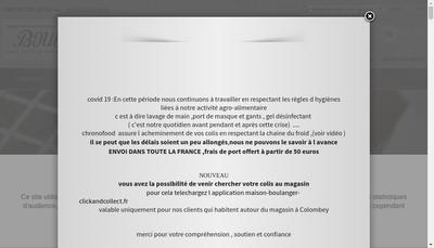 Site internet de Maison Boulanger