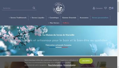 Site internet de La Maison du Savon de Marseille