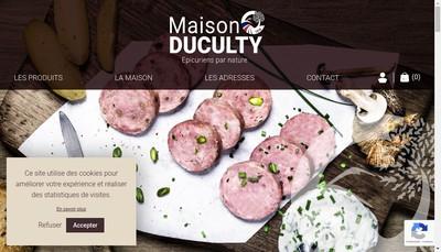 Site internet de Maison Duculty