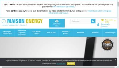 Site internet de Seme (Societe d'Exploitation Maison Energy)