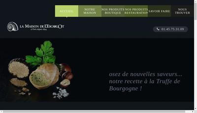 Site internet de Maison de l'Escargot