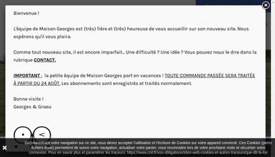 Site internet de Maison Georges