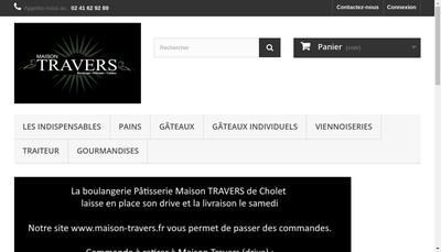 Site internet de La Maison Travers