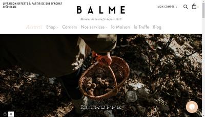 Site internet de Maison Balme