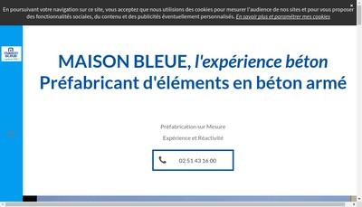 Site internet de Maison Bleue