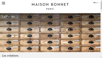 Site internet de Maison Bonnet Lunetier du Palais Royal