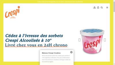 Site internet de Maison Crespi