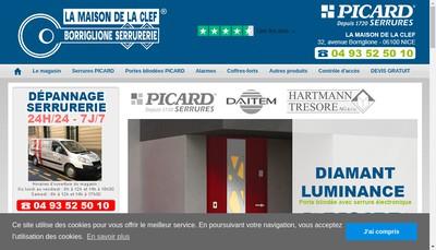 Site internet de La Maison de la Cle