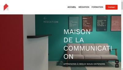 Site internet de Maison de la Communication