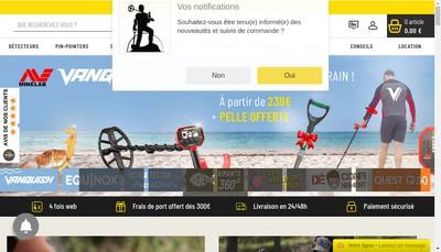 Site internet de Maison de la Detection