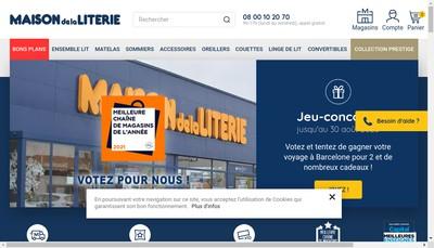 Site internet de Maison de la Literie