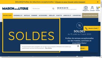 Site internet de La Maison de la Literie