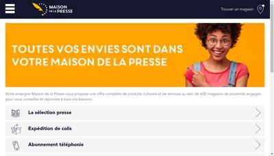 Site internet de Maison de la Presse