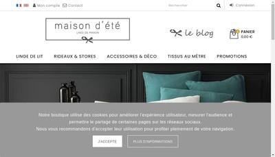 Site internet de Maison d'Ete