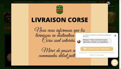 Site internet de La Maison du Biscuit
