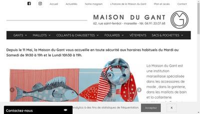 Site internet de La Maison du Gant