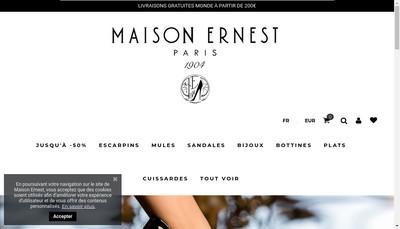 Site internet de Ernest Ernest Chausseur Chaussures Ernest Ernest le Specialiste du