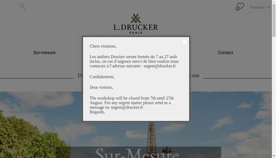 Site internet de Maison Drucker