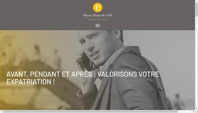 Site internet de Maison Pregevole-1968
