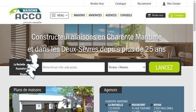 Site internet de Les Artisans Constructeurs Charentais de l'Ouest