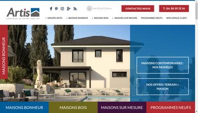 Site internet de Arthea et Maisons Essenciel