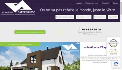 Site internet de Les Maisons Barberousse