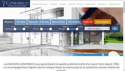 Site internet de Maisons Confort Eco