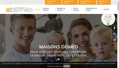 Site internet de Maisons Domeo