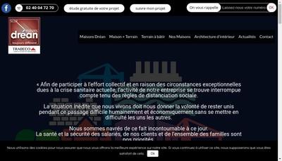 Site internet de Maisons Drean