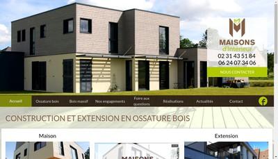 Site internet de Maisons d'Interieur Europe Maisons Bois Massif Reves en Bois