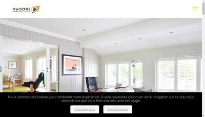 Site internet de Maisons Jb les Maisons Chantal B Collection Maison Bois