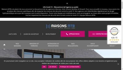 Site internet de Mtb- Maisons Tradi Bretagne