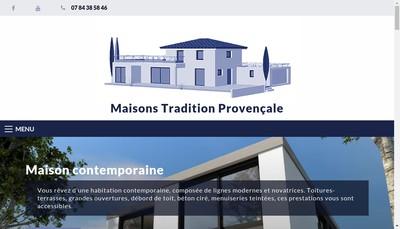 Site internet de Maisons Tradition Provencale