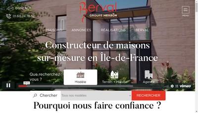 Site internet de Maisons Berval