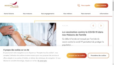 Site internet de Holding Mdf