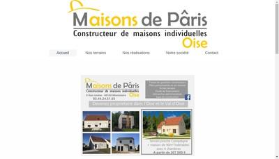 Site internet de Maisons de Paris Oise
