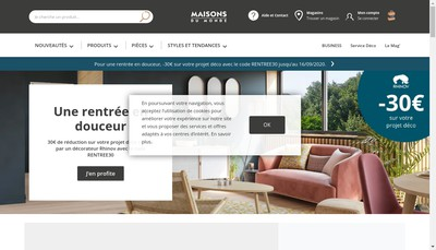 Site internet de Maisons du Monde France