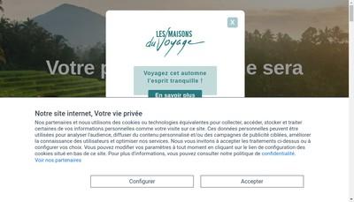 Site internet de Les Maisons du Voyage