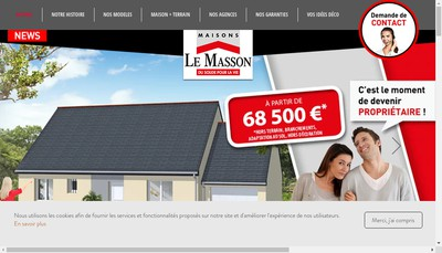 Site internet de Maisons le Masson