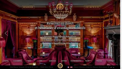 Site internet de Hotel de Belgique