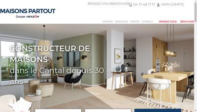 Site internet de Maisons Partout