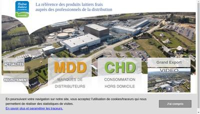 Site internet de Maitres Laitiers Distribution